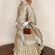 Antique French Fashion Walking Suit / Dress