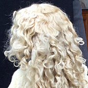 Amazing Antique Long Blonde Extended Tail Mohair Wig