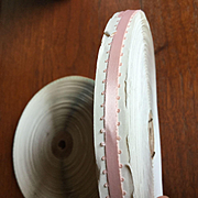 Wonderful Roll of Vintage Narrow Pink Ribbon with Picot Edges