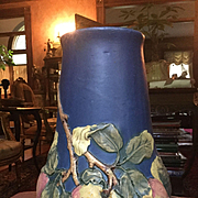 "Beautiful vintage Blue Apple Baldin Weller Vase-Large 11.5"""