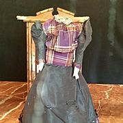 Antique Kestner Kid Body with Silk Dress