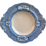 Blue Transferware Shallow Bowl Ridgways Oriental c. 1900s