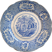 Blue Transferware Ridgways Oriental Side Plate c. 1900s