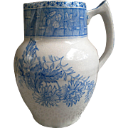 Blue and White Early Earthenware Pitcher