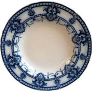"English Flow Blue Stew or Soup Bowl ~ ""Laurier Adderley"""