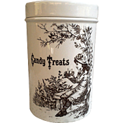 Candy Treats Covered Jar from Burleighware