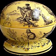 Mottahedeh Italy Porcelain Easter Egg Trinket Box