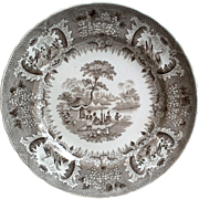 Antique French Side Plate Opaque Anglaise Vieillard and Co, Bordeaux