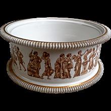 Gold and White Florentine Bowl, Planter