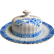 Vintage Mid Century Bavaria Schirnding Porcelain Covered Butter Dish ~ Cheese Keeper