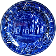 Flow Blue Wedgwood Fort Johnson Amsterdam New York Historical Plate