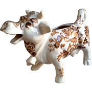 Staffordshire Cow Creamer Brown and White Clarice Cliff