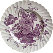 Purple English Side Plate ~ Royal Staffordshire ~ Charlotte