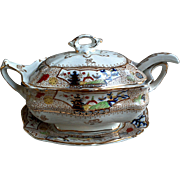 English Sauce Tureen ~ Early Ironstone