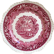 Mason's Vista Red Transferware Dinner Plate