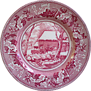 """Johnson Brother """"Frozen Up"""" Thanksgiving"""" Plate - Red Tag Sale Item"""