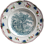 Early Childs Plate ~ Haymakers ~ 1850's