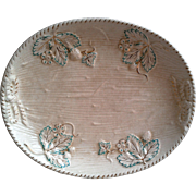 Avalon Faience Majolica Platter ~ Strawberry Pattern with Leaves ~ Chesapeake Pottery ~ David Haynes & Co Baltimore MA 1882-1890