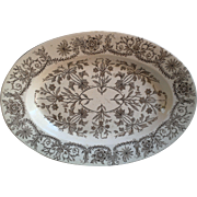 Aesthetic Brown Transferware Platter~ LAHORE 1885