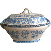 Aesthetic Blue Transferware Tureen ~ LAHORE 1885