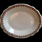 Heavy White and Brown Ironstone Platter ~ Jackson China ~ PA