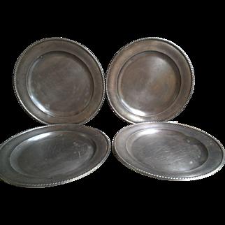 Italian Pewter Plates Peltro Made in Italy