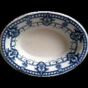 """Flow Blue Oval Vegetable Bowl ~ """"Laurier Adderley"""""""