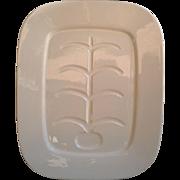 White Ironstone Platter with Fishbone Design
