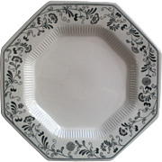 Black and White Ironstone Dinner Plate