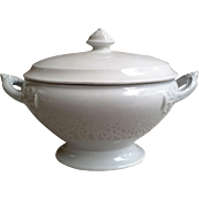 White Ironstone Tureen ~ Rhine ~ Small Sauce Tureen