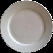 "White Large 11"" Ironstone Dinner Plate"