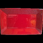Red Ceramic Platter Tray Waechtersbach Germany