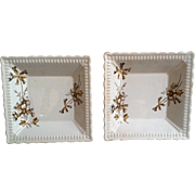 Square Butter Dishes ~ Trinket Dishes ~ Set of 2