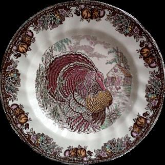 Johnson Brothers ~ Autumn Monarch Pattern ~ Dinner Plate ~ Turkey