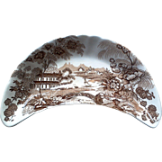 Royal Crownford Tonquin Brown Transferware Ironstone Bone Dish