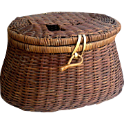 Fly Fishing Creel Basket ~ Wicker ~ Home Decor