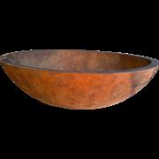 Large Primitive Farm House Wooden Dough Bowl