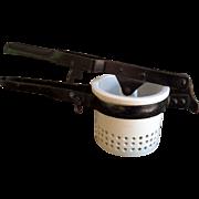 White Ironstone Potato Ricer, Vintage Kitchen Items