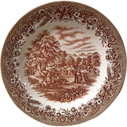 Dinner Plate by Currier and Ives - Harvest