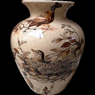 Decorative Bird in Nest with Flowers Vase