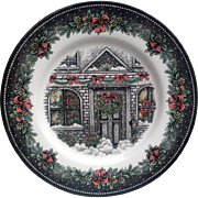 Christmas Dinner Plate Christmas House Royal Stafford