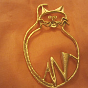 SALE Modernist Huge Cat Pin