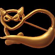 Modernist Cat Pin Meowwww!