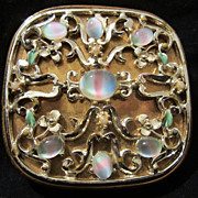 "Fabulous Rare Art Glass "" Givre"" Evans Enameled Compact"