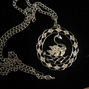 Swan Lake by Sarah Coventry Vintage Pendant Necklace