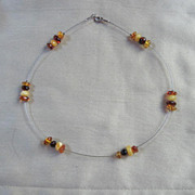 Genuine Baltic  Amber and  Sterling Vintage Necklace 925