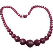 Mauve Moon Glow Necklace & Matching Bracelet  Set
