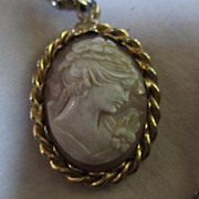 signed HOBE Genuine Cameo on Fancy Link Chain