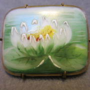 Victorian Hand Painted Porcelain Lily Pad