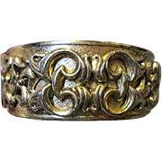 Whiting & Davis Signed hinged Bangle Bracelet